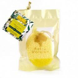 Gąbka do ciała nasączona oliwą z oliwek