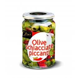 Oliwki zielone pikantne 520 g
